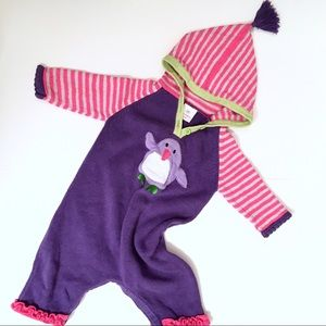 Hanna Andersson hooded sweater romper 60